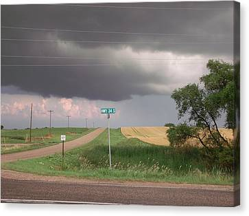 Stormy Highway 34 Canvas Print by Brian  Maloney