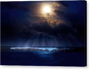 Stormy Moonrise Canvas Print