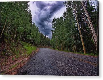 Stormy Mountain Road Canvas Print by Thomas Zimmerman