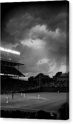 Stormy Night At Wrigley Field Canvas Print