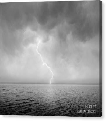 Stormy Night  Canvas Print by Dave Gordon