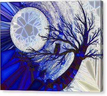 Stormy Night Owl Canvas Print