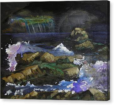 Stormy Night Canvas Print by Terry Honstead