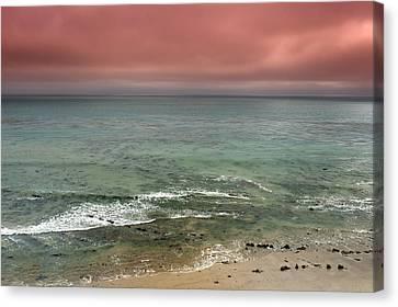 Stormy Ocean Panorama Canvas Print