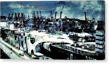Stormy Port Canvas Print by Phill Petrovic