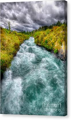 Stormy River Canvas Print by Colin Woods