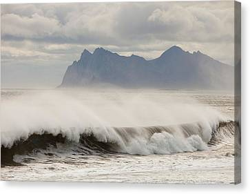 Stormy Sea Canvas Print by Ashley Cooper