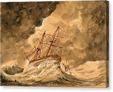 Stormy Sea  Canvas Print by Juan  Bosco