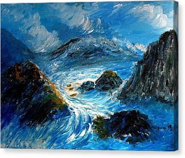 Stormy Sea Canvas Print by Mauro Beniamino Muggianu