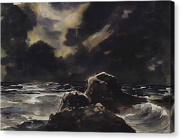 Stormy Sea Canvas Print by Sam Sidders