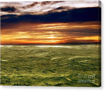 Stormy Sea Canvas Print by Sinisa Botas