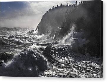 Stormy Seas At Gulliver's Hole Canvas Print by Marty Saccone