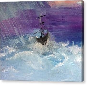 Stormy Seas Canvas Print by Lisa Kaiser