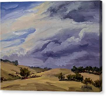 Southern Utah Canvas Print - Stormy Skies by Jane Thorpe
