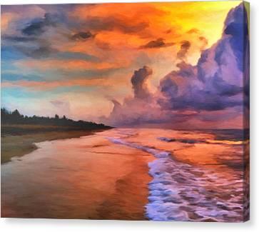Stormy Skies Canvas Print by Michael Pickett
