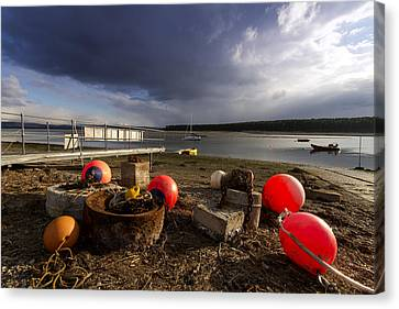 Stormy Skies Over Findhorn Bay Canvas Print by Karl Normington