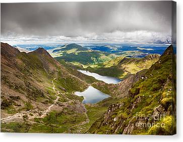 Stormy Skies Over Snowdonia Canvas Print