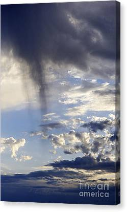 Stormy Sky At Dusk Canvas Print by Sami Sarkis