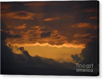 Stormy Sky At Sunset Canvas Print by Sami Sarkis