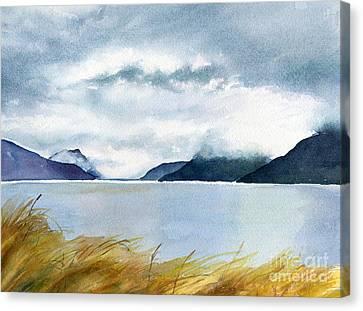 Stormy Sky Over Turnagain Arm Canvas Print by Sharon Freeman