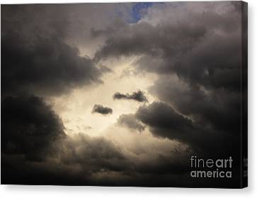 Stormy Sky With A Bit Of Blue Canvas Print by Thomas R Fletcher
