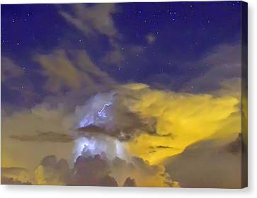 Canvas Print featuring the photograph Stormy Stormy Night by Charlotte Schafer
