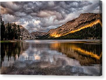 Stormy Sunset At Tenaya Canvas Print by Cat Connor
