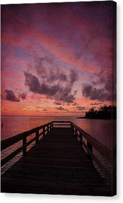 Stormy Sunset Canvas Print by Beverly Stapleton