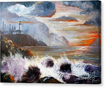 Stormy Sunset Canvas Print by Lee Piper
