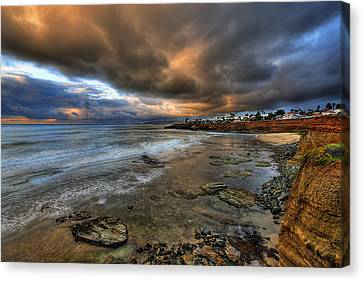 Stormy Sunset Canvas Print by Peter Tellone