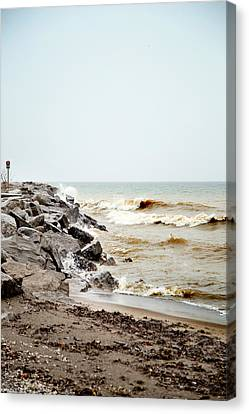 Canvas Print featuring the photograph Stormy Weather by Courtney Webster