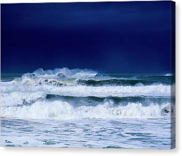 Stormy Weather Generates Heavy Surf Canvas Print by Robert L. Potts