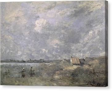 Stormy Weather, Pas De Calais Canvas Print by Jean Baptiste Camille Corot