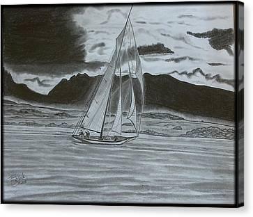 Stormy Weather Canvas Print by Tony Clark