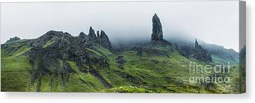 Storr In The Clouds Canvas Print by Matt  Trimble