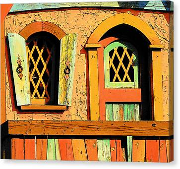 Storybook Window And Door Canvas Print by Rodney Lee Williams