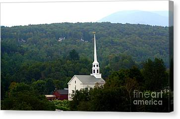 Stowe Community Church Canvas Print by Patti Whitten