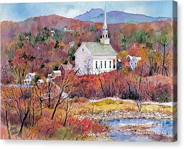 Stowe Village Canvas Print by Sherri Crabtree
