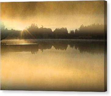 Stowell Lake On Salt Spring Island Canvas Print by Lyn  Perry