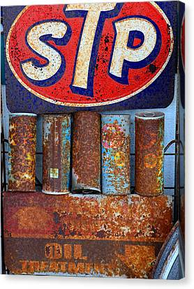 Stp Oil Treatment Sign Canvas Print by David Lee Thompson