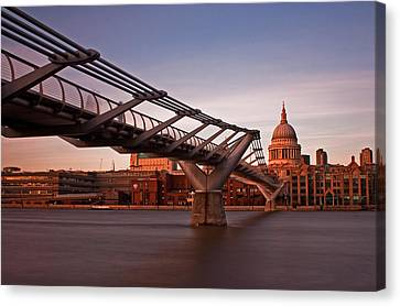 St.paul's From The South Bank Canvas Print