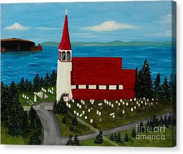 St.philip's Church 1999 Canvas Print by Barbara Griffin