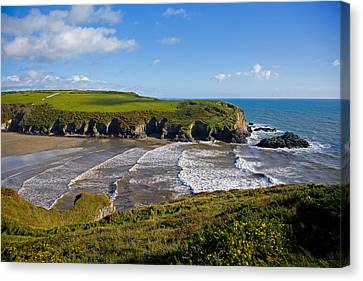 Stradbally Strand, The Copper Coast Canvas Print by Panoramic Images