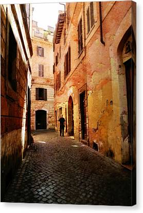 Canvas Print featuring the photograph Strade Di Ciottoli by Micki Findlay