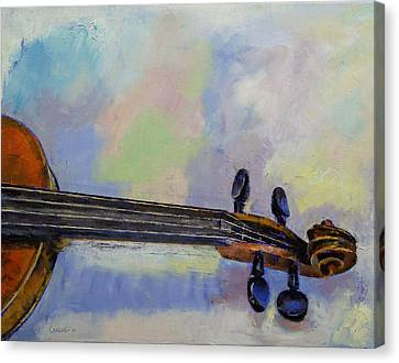 Musique Canvas Print - Stradivarius by Michael Creese