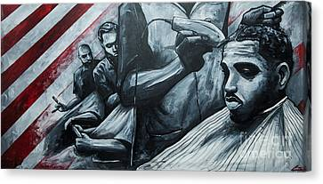 Straight Cutttin Canvas Print by The Styles Gallery
