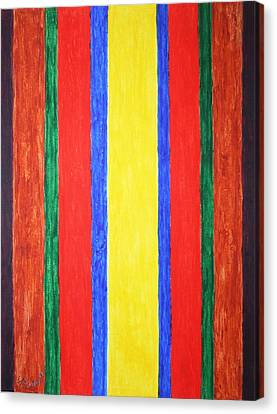 Canvas Print featuring the painting Vertical Lines by Stormm Bradshaw