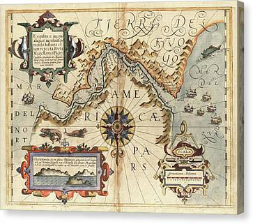 Strait Of Magellan Canvas Print by Library Of Congress, Geography And Map Division