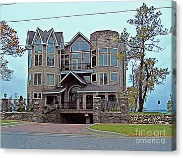 Mj Canvas Print - Straits Of Mackinaw by MJ Olsen