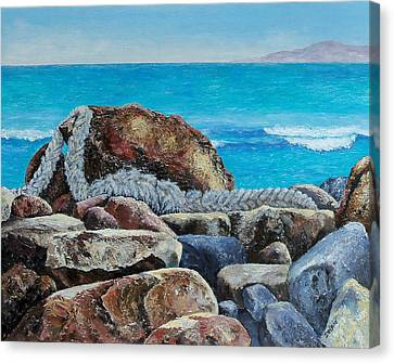 Canvas Print featuring the painting Stranded by Susan DeLain